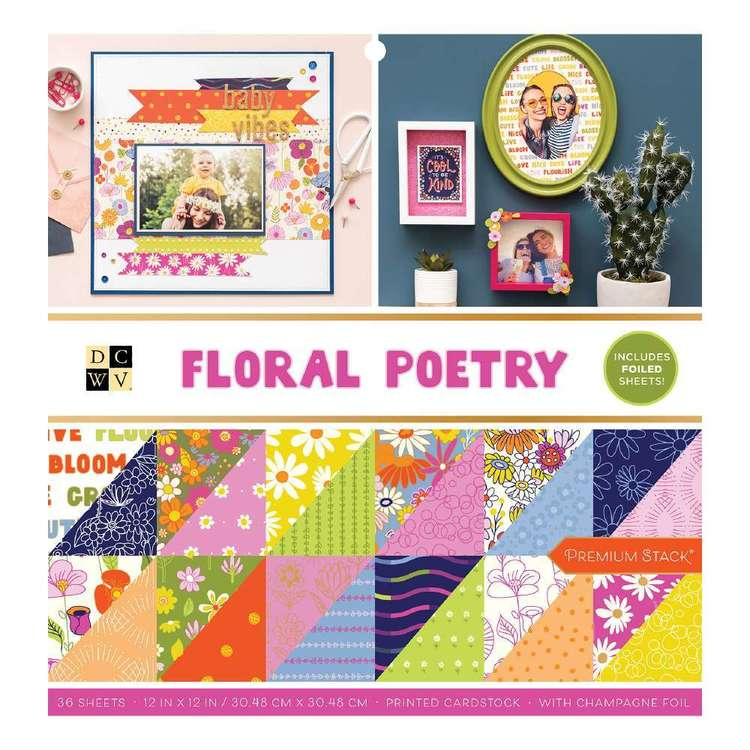 Die Cuts With A View Floral Poetry Paper Pad