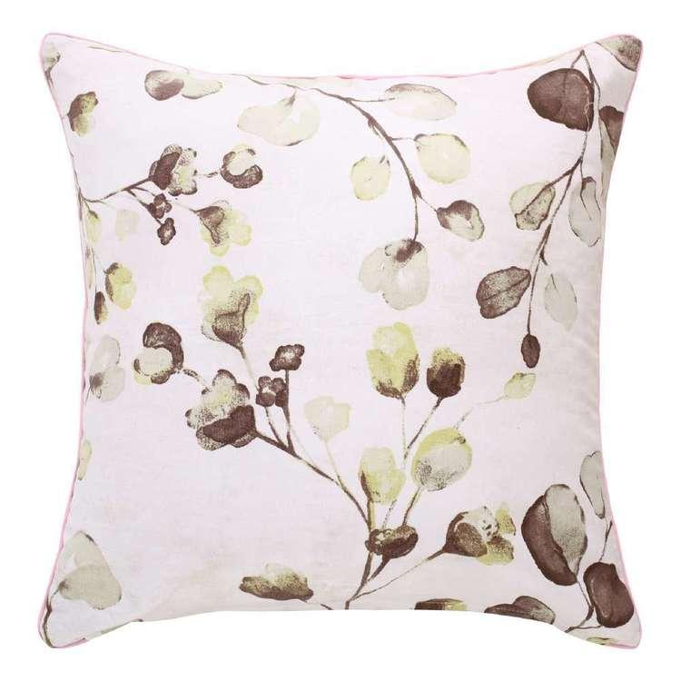 Ombre Home Sakura Bloom Hazel Leaf Cushion