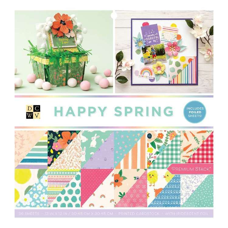 Die Cuts With A View Happy Spring Paper Pad