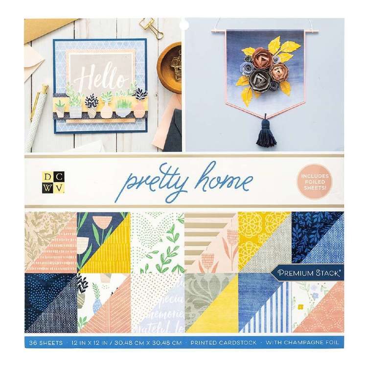 Die Cuts With A View Pretty Home Paper Pad Multicoloured 12 x 12 in
