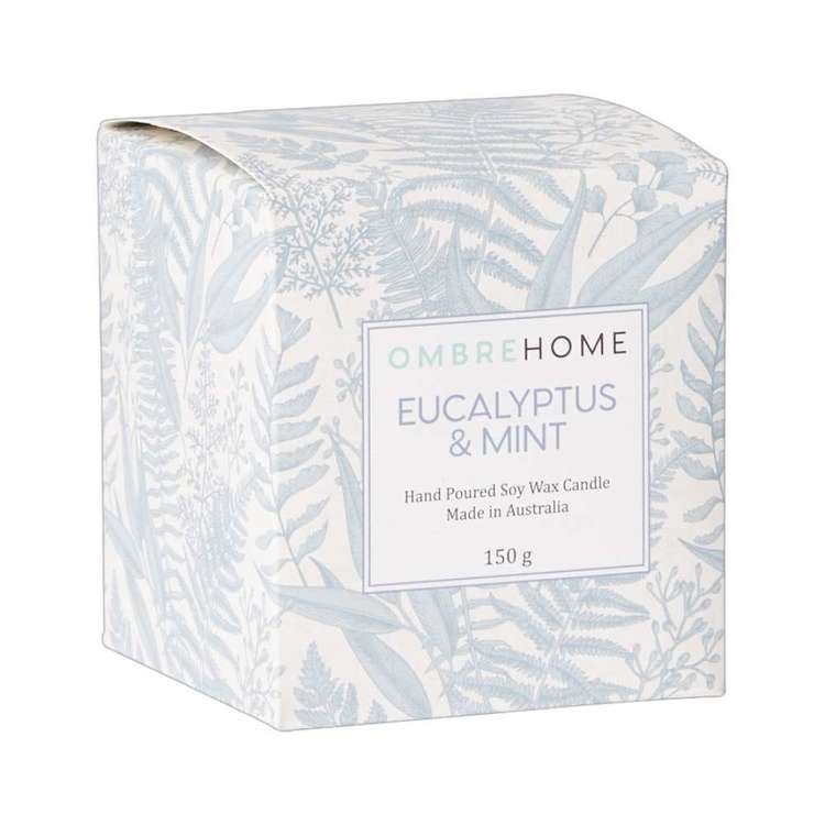 Ombre Home Classic Chic Eucalyptus And Mint Candle