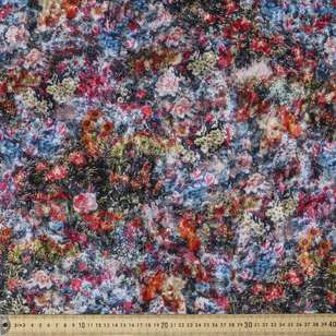 Flower Mix Printed Spandex Velour Fabric