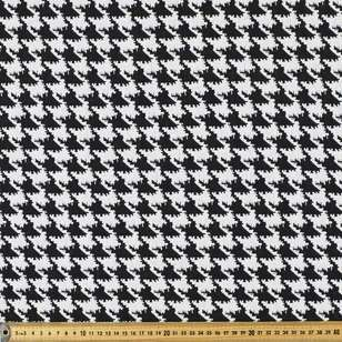 Houndstooth Jacquard Knit Fabric