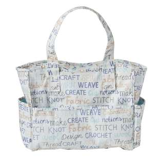 Sew Easy Words Knitting Bag