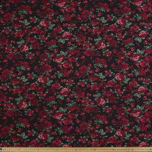 Bed Of Roses Printed 135 cm Rayon Fabric