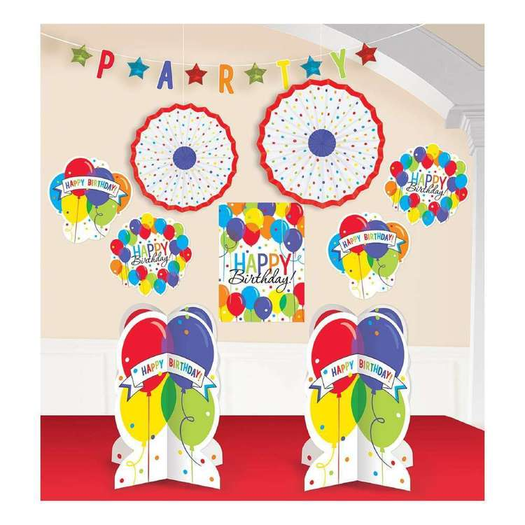 Amscan Balloon Bash Room Decoration Kit