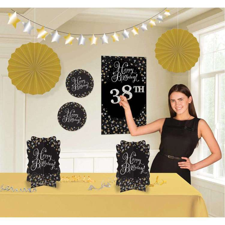 Amscan Sparkling Celebration Add an Age Birthday Room Decoration Kit