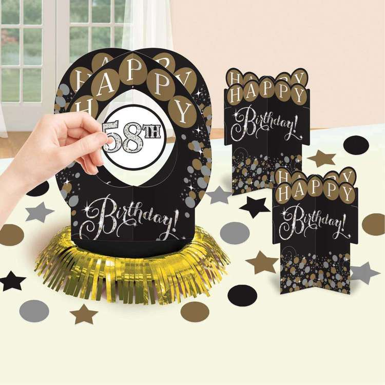 Amscan Sparkling Celebration Add an Age Table Decoration Kit