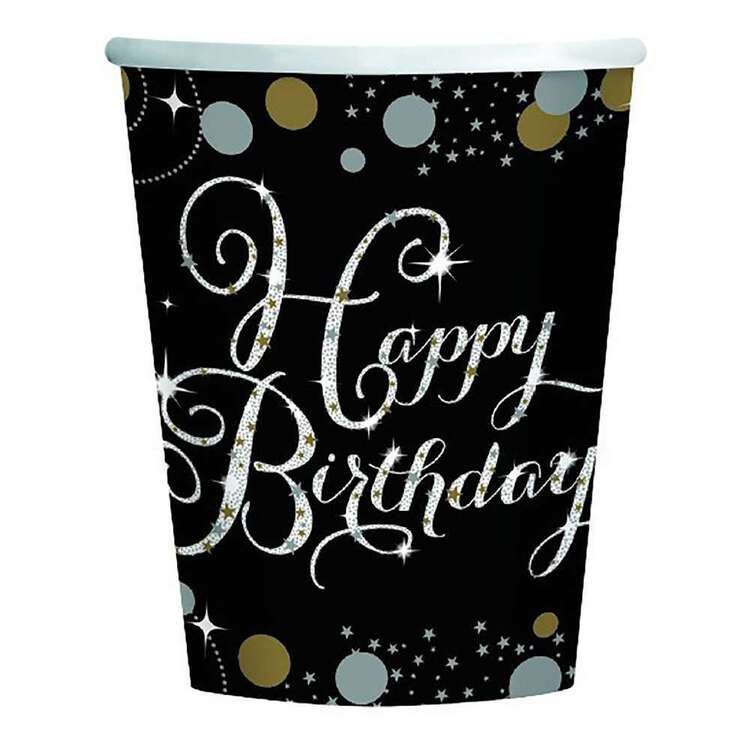 Amscan Sparkling Celebration Happy Birthday Cups 8 Pack