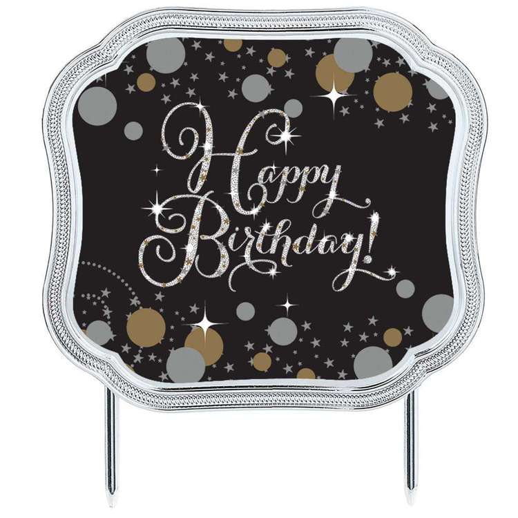 Amscan Sparkling Celebration Add an Age Happy Birthday Cake Topper