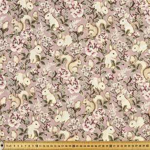 Bunnies Printed 112 cm Country Garden TC Fabric