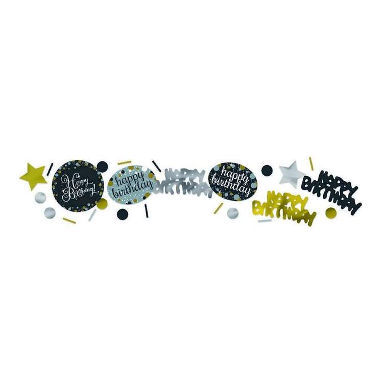 Amscan Sparkling Celebration Happy Birthday Confetti