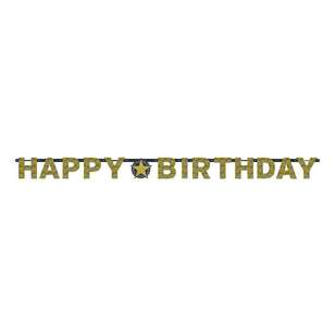 Amscan Sparkling Celebration Happy Birthday Prism Letter Banner