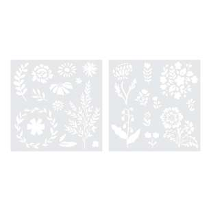 We R Memory Keepers Foil Quill Floral Stencil