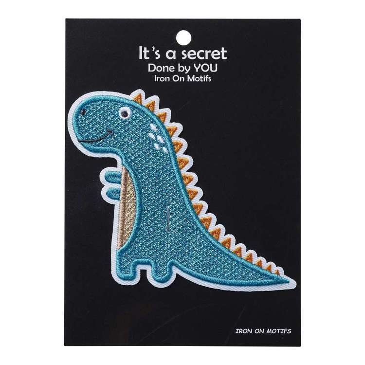 Baby Dino Iron On Motif Stegosaurus 1