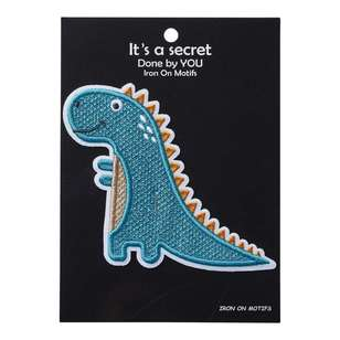 Baby Dino Iron On Motif Stegosaurus 1