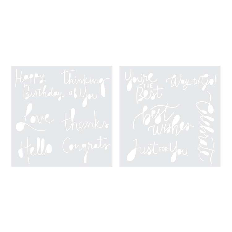 We R Memory Keepers Foil Quill Monogram Stencil