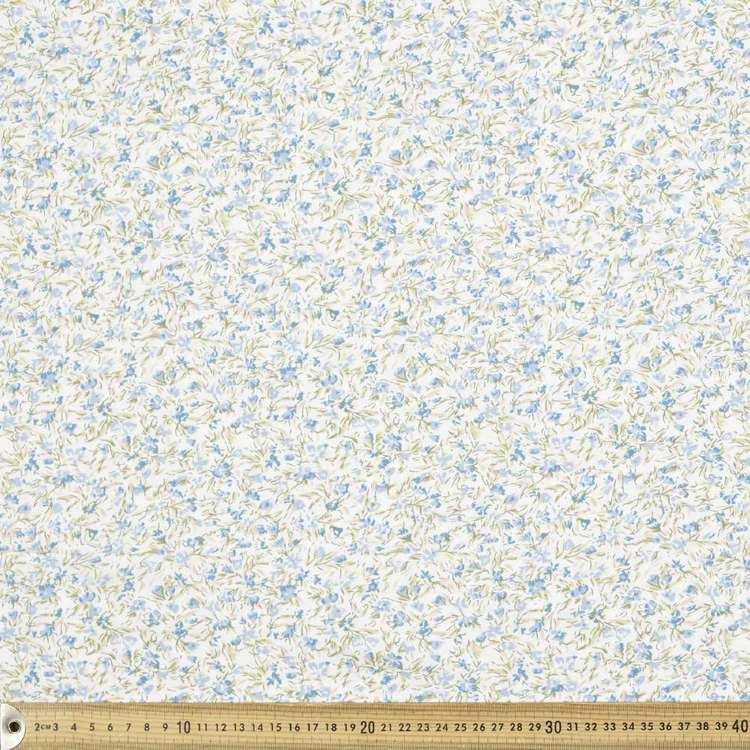 Floral Haze Printed 135 cm Rayon Fabric Ivory 135 cm