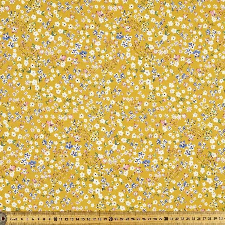 Vintage Ditzy Printed 112 cm Cotton Poplin Fabric