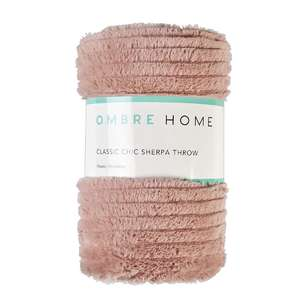Ombre Home Classic Chic Sherpa Throw