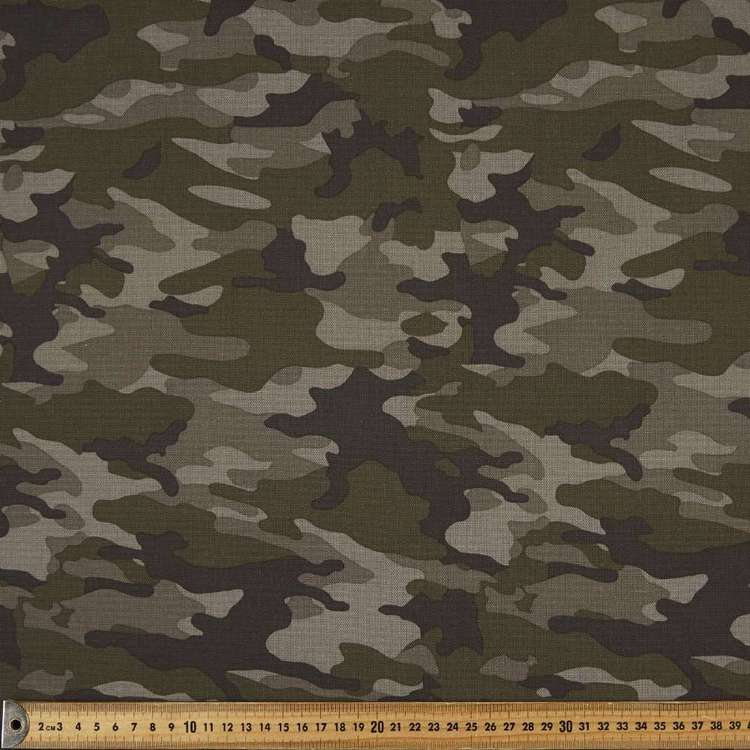 Camo Printed 112 cm Cotton Duck Fabric