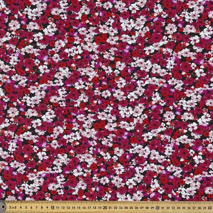 Garden Bed Printed Cotton Spandex Fabric