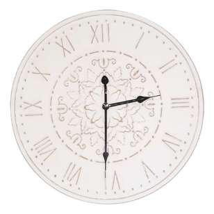 Living Space Classic Wooden Clock