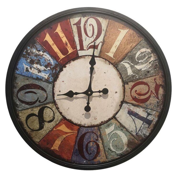Living Space Large Metal Clock