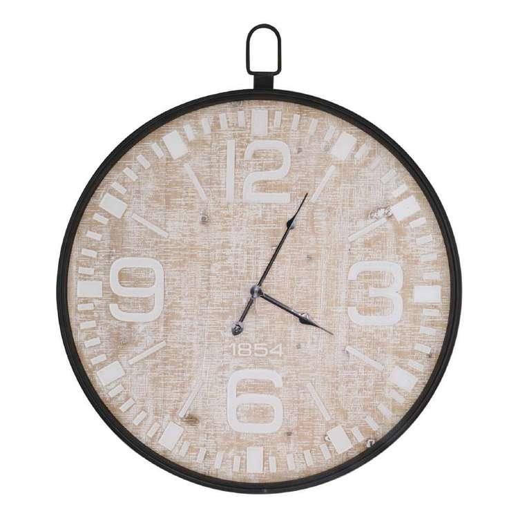 Living Space Clock With Metal Rim
