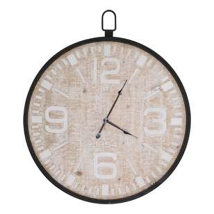 Living Space Clock With Metal Rim
