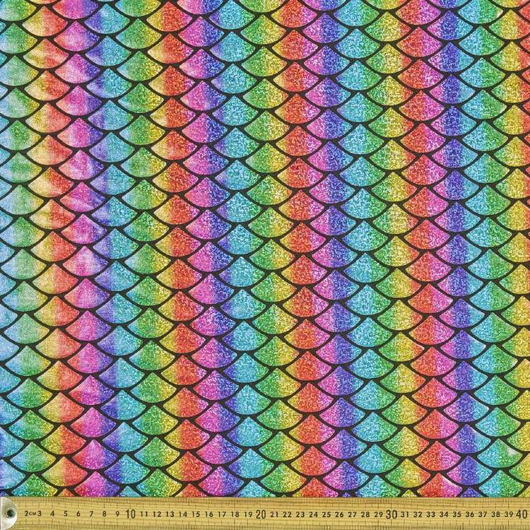 Scale Printed 148 cm Dance Knit Fabric