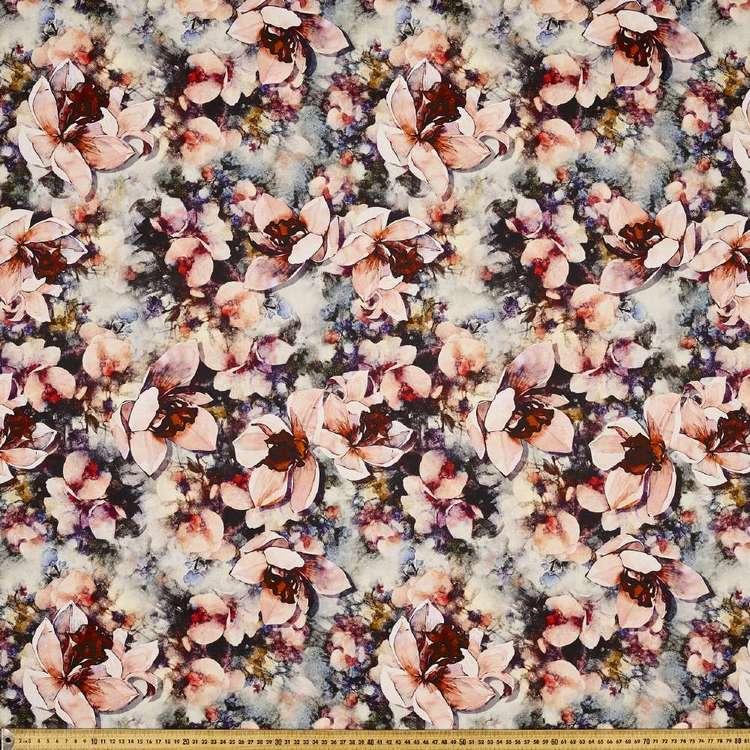 Watercolour Digital Printed Cotton Sateen Fabric