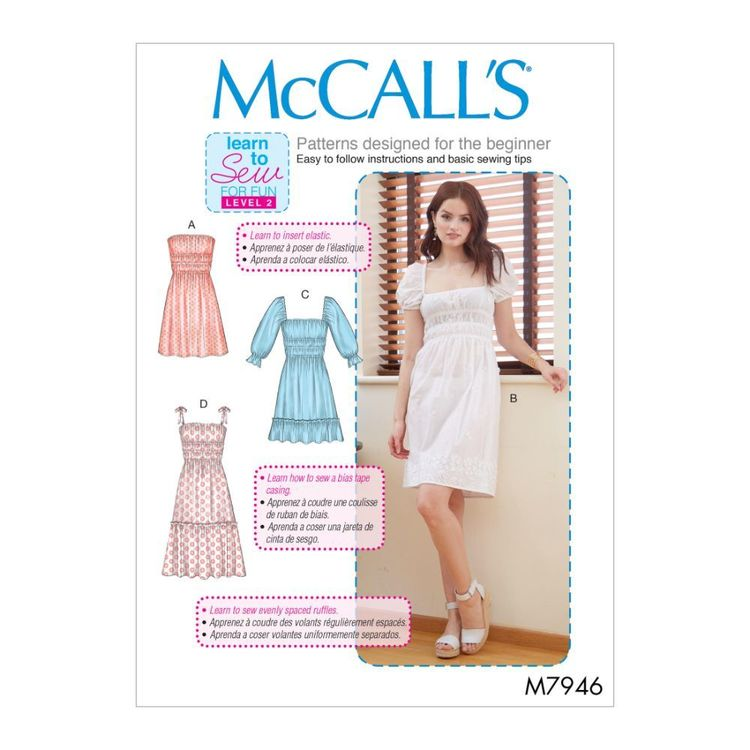 McCall's Pattern M7946 Learn To Sew For Fun Misses' Dresses