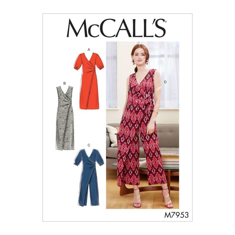 McCall's Pattern M7953 Misses' Dresses and Jumpsuits