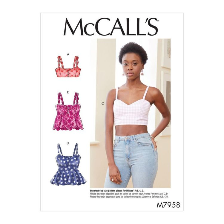 McCall's Pattern M7958 Misses' Tops