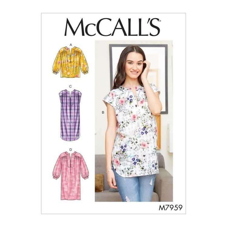McCall's Pattern M7959 Misses' Top, Tunic and Dresses