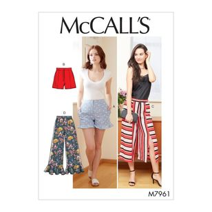 McCall's Pattern M7961 Misses' Shorts and Pants