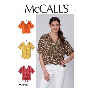 McCall's Pattern M7976 Misses' Tops