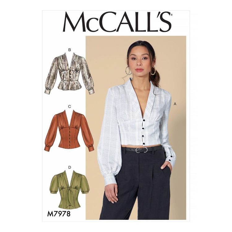 McCall's Pattern M7978 Misses' Tops