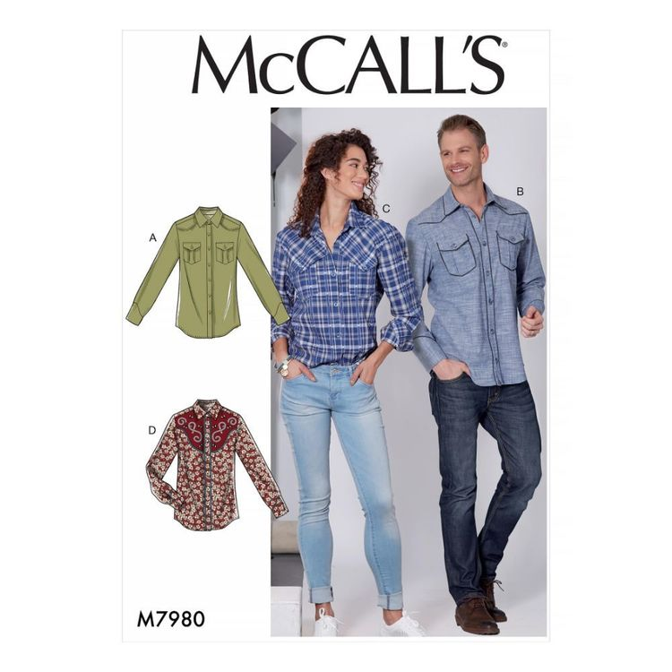 McCall's Pattern M7980 Misses' and Men's Shirts
