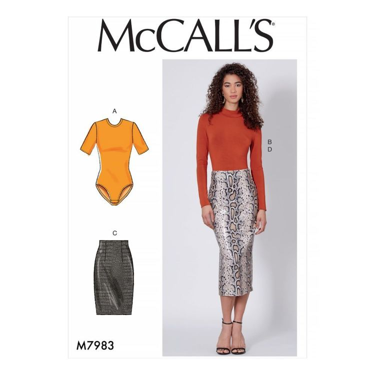 McCall's Pattern M7983 Misses' Tops and Skirts