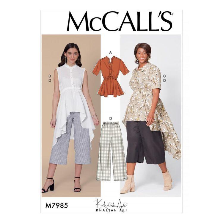 McCall's Pattern M7985 Khaliah Ali Misses' and Women's Top, Tunics, and Pants