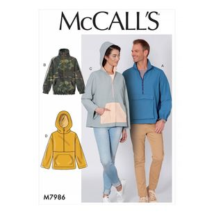 McCall's Pattern M7986 Misses' and Men's Jackets