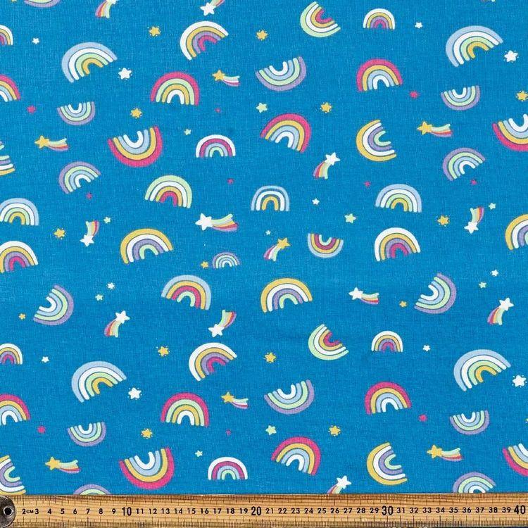 Rainbow Mix Printed 148 cm Cotton Spandex Fabric