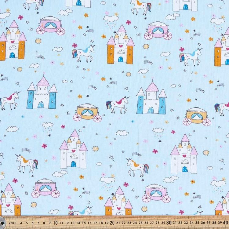 Fairy Tale Printed 148 cm Cotton French Terry Fabric