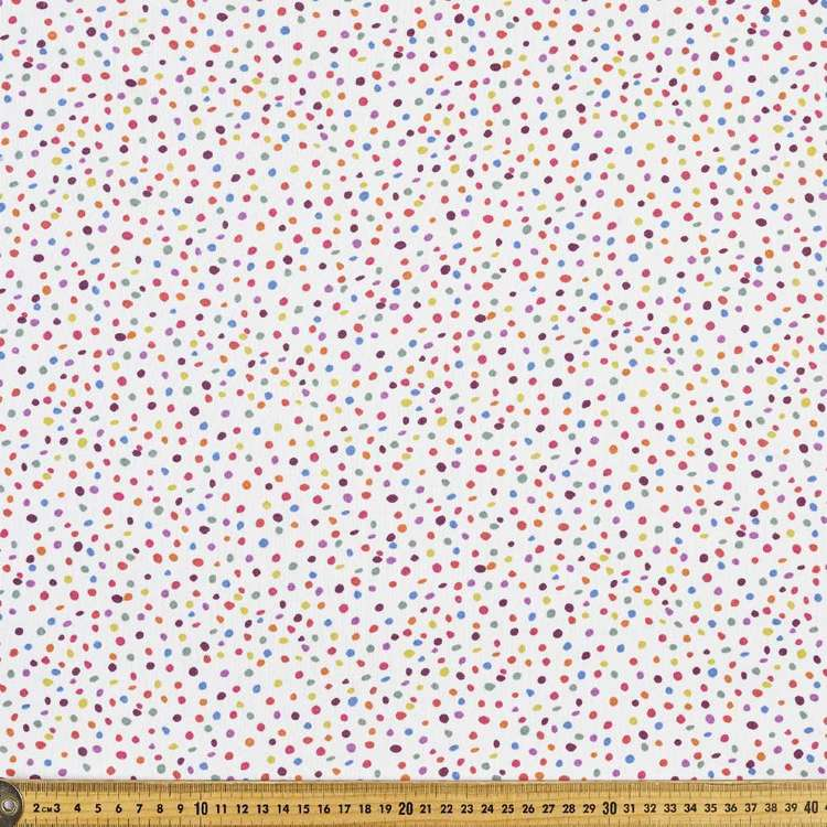 Spotty Printed 148 cm Cotton French Terry Fabric