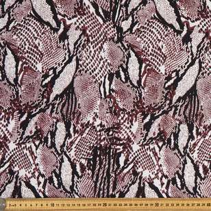 Stylish Snake Printed Rayon Spandex Knit Fabric