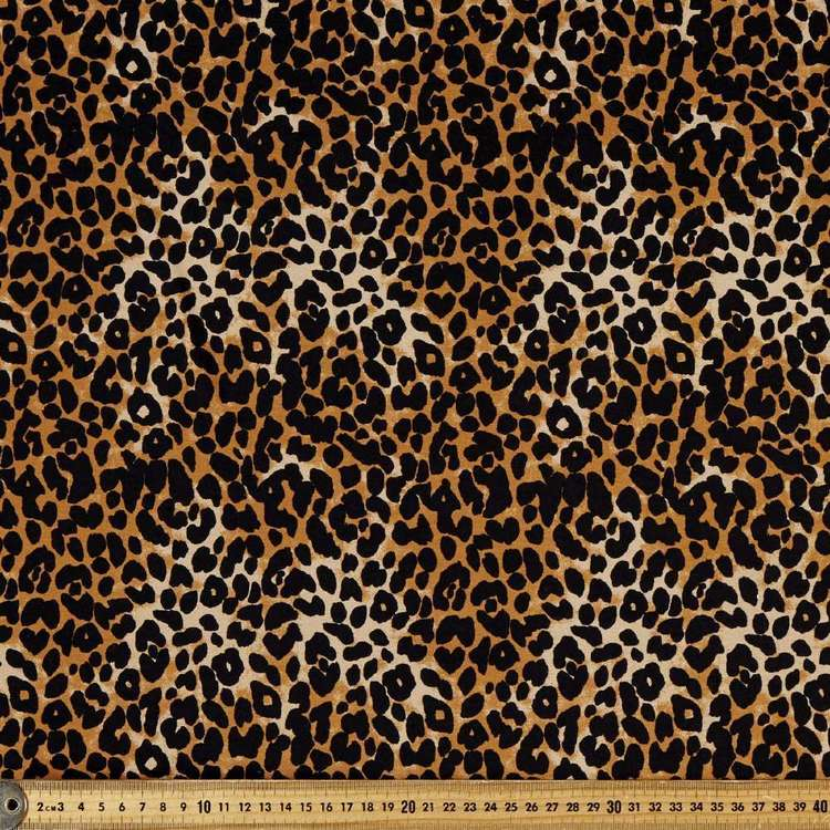 Big Cat Printed Rayon Spandex Knit Fabric