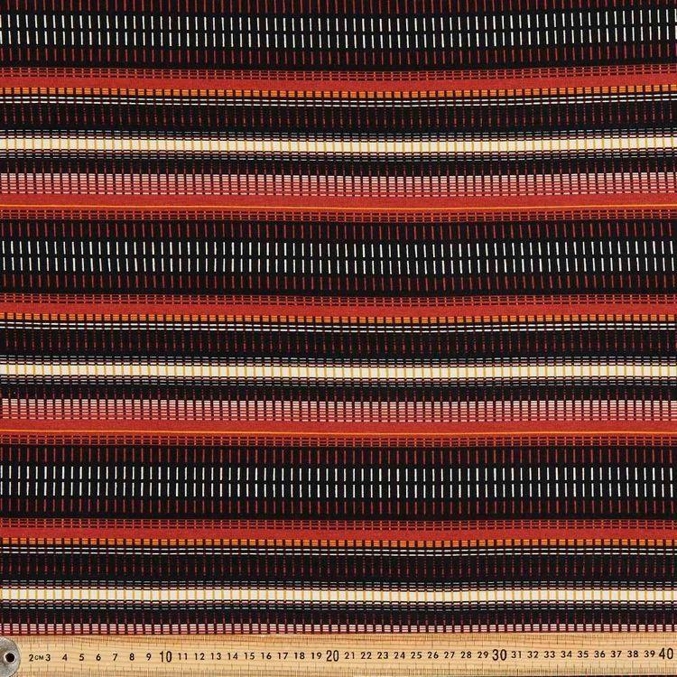 Linear Printed 148 cm Rayon Knit Fabric