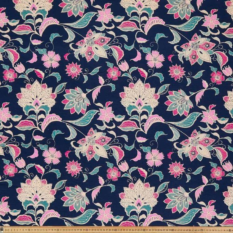 Jacobean Garden Printed 148 cm Rayon Knit Fabric